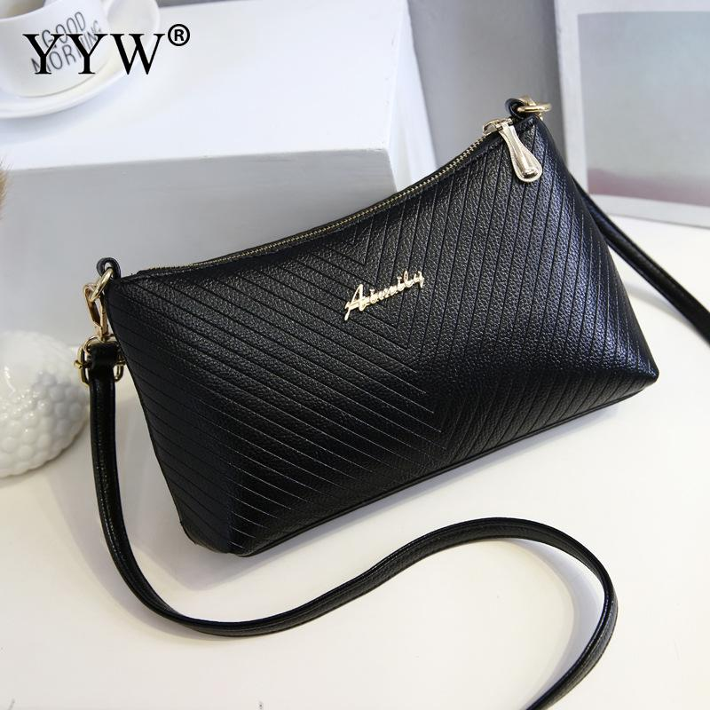 Wholesale PU Leather Shoulder Bag For Women Costume Attached With Hanging  Strap Black Clutch Bag Lichee Pattern Messenger Bags a38abdedca