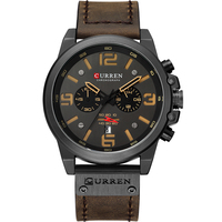 CURREN Top Brand Luxury Mens Watch Quartz Wristwatches Male Leather Military Date Sport Watches Relogio Masculino 2018 NEW