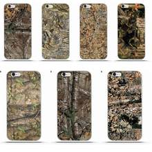 Realtree Настоящее Дерево Camo для iphone 4 4S 5 5C SE 6 6 S 7 8 Plus X Galaxy S5 s6 S7 S8 Grand Core II Prime Alpha Мягкие TPU Мода(China)