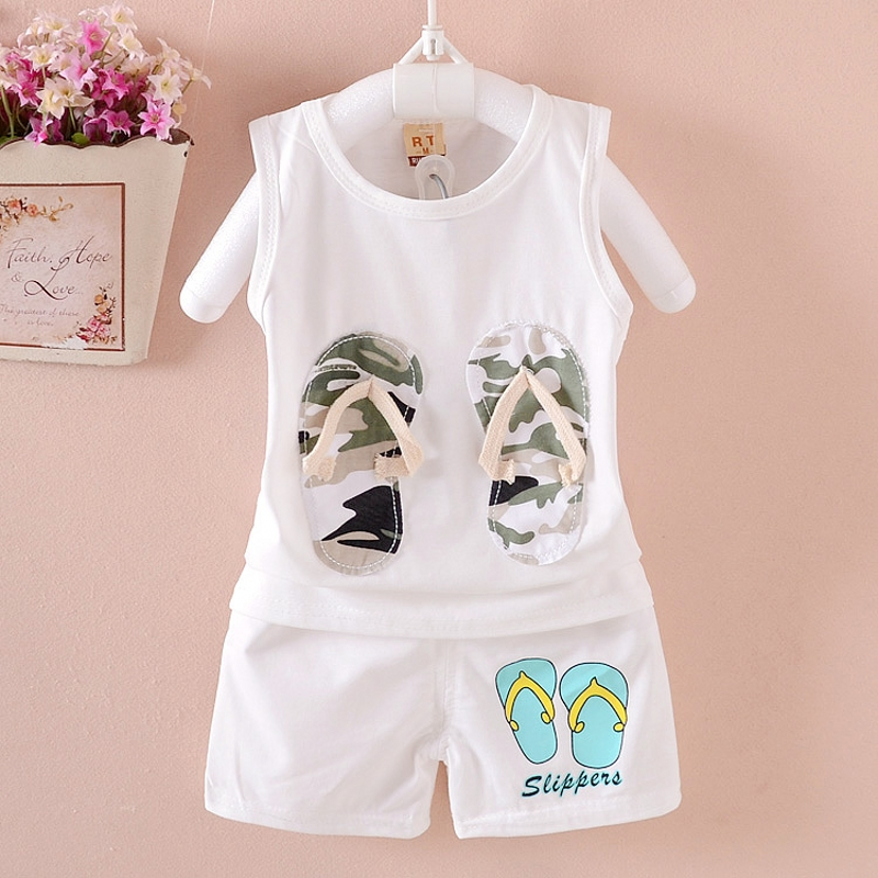 children clothing sets summer 1-5 year boys girls clothes 100% Cotton Korean Style kids clothes sets 2 pcs baby suits set