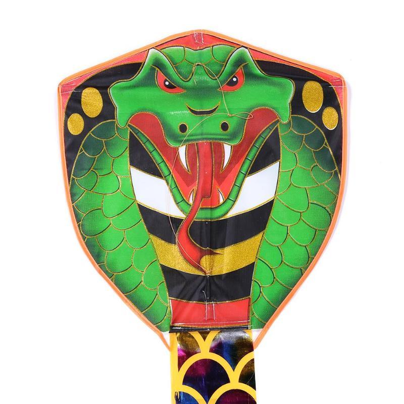7 м нарисованная змея воздушный змей длинный хвост нейлон наружные воздушные змеи игрушки для детей трюк кайт серфинг без управления бар и линия