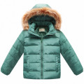 Best 2016 Winter New 90% Down Coat For Kids Outerwear Fur Hooded Coat Boys Down Jackets Girls Children Infantil Clothing Cheap