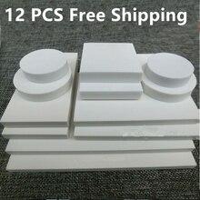 12 PCS Gravur Gummi Reinem Weiß Gummi Blatt Große Weiße Gummi Ziegel DIY Material Verschiedene größen Scrapbooking