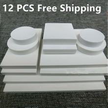 12 조각 조각 고무 순수한 흰색 고무 시트 대형 흰색 고무 벽돌 diy 재료 다양한 크기 scrapbooking