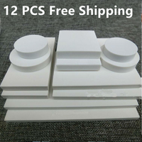 12 PCS Engraving Rubber Pure White Rubber Sheet Large White Rubber Brick DIY Material Various Sizes