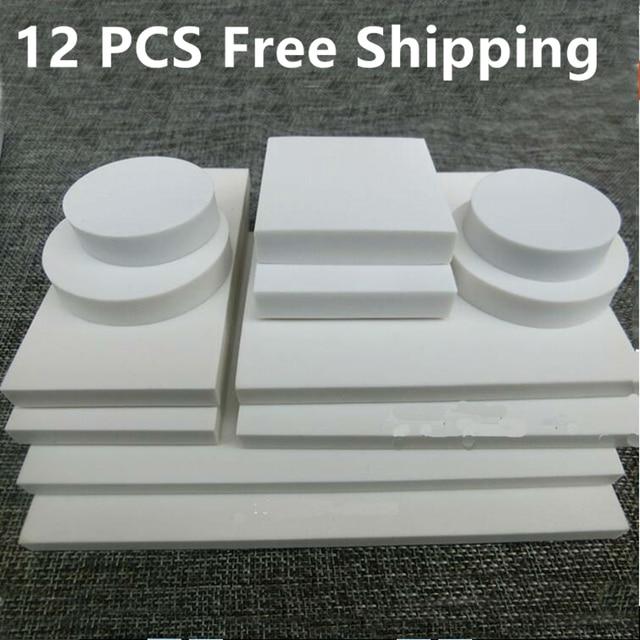 12 قطعة النقش المطاط ورقة المطاط الأبيض النقي كبير الطوب المطاط الأبيض DIY المواد مختلف الأحجام سكرابوكينغ