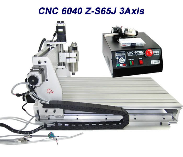 CNC Router 6040Z-S65J 3axis CNC engraving machine Wood lathe cutting machine cnc 6040 router 3axis pcb cutting machine 1500w with water tank