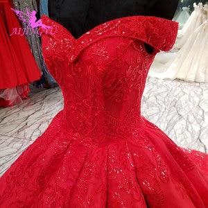 Image 5 - AIJINGYU שנהב תחרה חתונה שמלת שמלות Xxxl גודל 2021 כדורי אמא של הכלה שמלת אירוסין גדול גודל צנועה חתונה שמלות