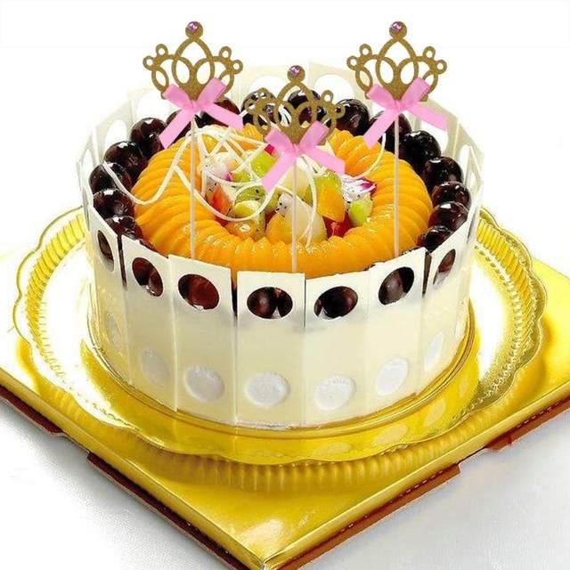 Online Shop 10pcs/set Crown Cake Topper Card For Birthday Engagement ...