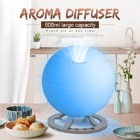 Ultrasonic Air Humidifier 600ml Aroma Essential Oil Diffuser LED Light Air Diffuser Air Purifier Aromatherapy Diffusers