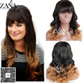 "12-24"" New Ombre Wigs Loose Wave Lace Front Wig Brazilian Virgin Human Hair Wigs Baby Hair Glueless Full Lace Wigs With Bangs"