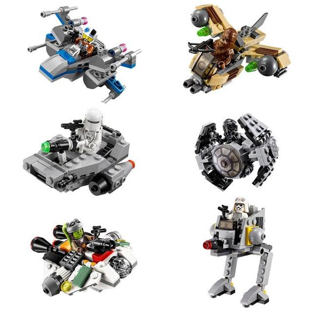6pcs Star Wars Mini Clan X Wing Fighter Stormtrooper Spacecraft ...