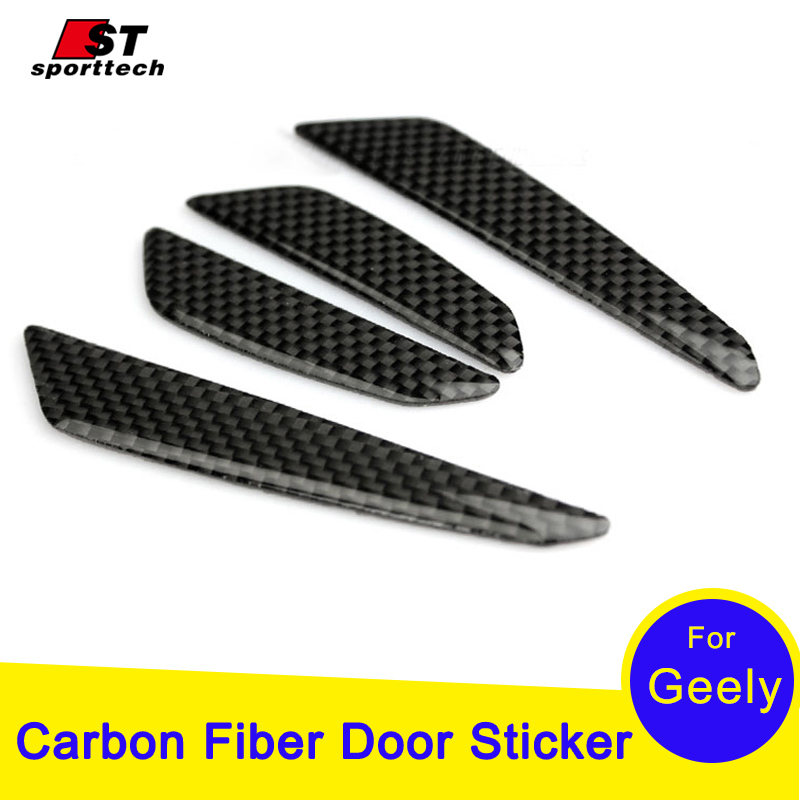 Car Styling Door Protector For Geely Emgrand 7 EC7 EC715 EC718 EC7-RV EC715-RV EC718-RV Carbon Fiber Protection Strips Stickers