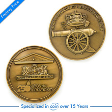 Custom Zinc Alloy 3D Coin cheap custom antique gold Military cannon memorial coins