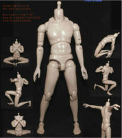 1/6 Scale Action Figure Accessory Nude Military figure Soldiers Model Male Body Ferritic Slim Version Painting Body Toys