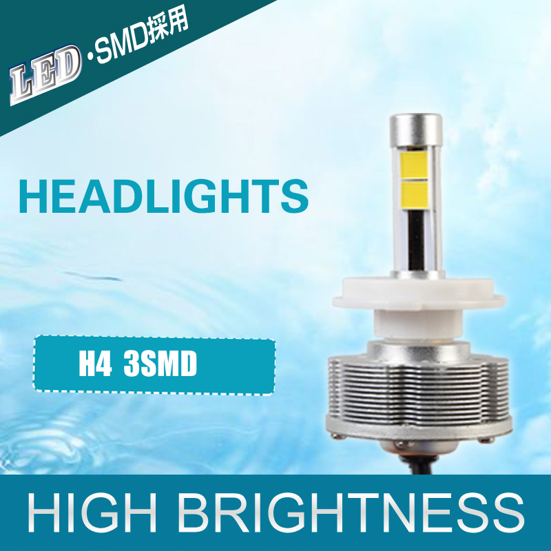ФОТО Hot Sale H4 LED Headlights Motorcycles Trucks Convision Kit H4 Headlamp Cars Bulbs interior LED headlight 30W 6000K DC 12V 40V