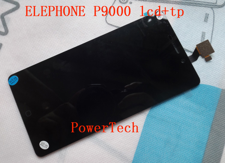 Original Elephone P9000 Front Panel Touch Glass Digitizer Screen with LCD display for p9000 Cell Phone