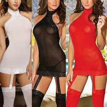 2015 newest Women Sexy Lingerie Night Lace Clubwear Sleepwear Babydoll Dress G-string Hot ZL001