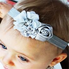 Fancy Kids Headband Colorful Flower Cute European Style Korean Mesh Elastic Children s Hairband font b