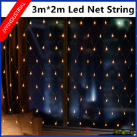 3 2m 204Leds EU Plug Wedding Party Decoration Led Net String Lights Multi Color 8 Displays