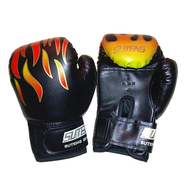 US $6 14 19% OFF|Aliexpress com : Buy Children Flame Mesh Professional  Sanda Palm Boxing Gloves Breathable PU Leather Flame Gloves Boxing Training