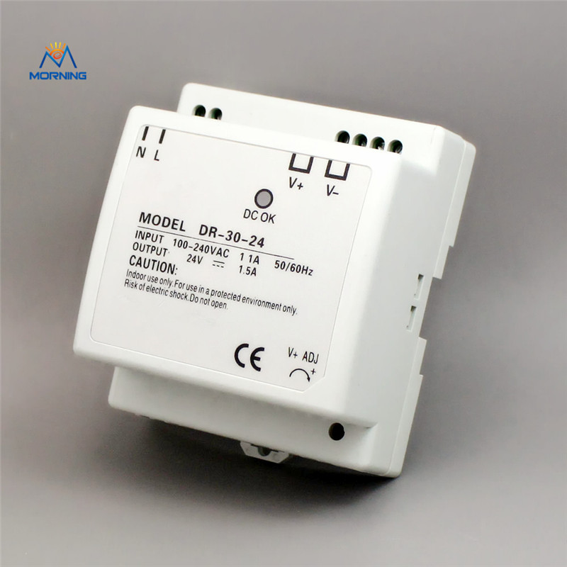 DR-30-5 5V 30W Cooling Aluminum shell din rail single power supply 30W input output switching power supply 5 30