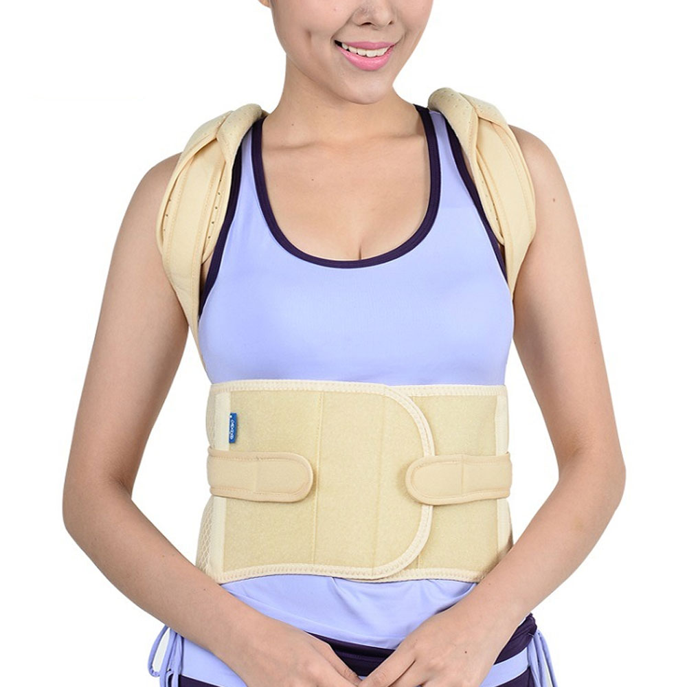 1Pcs Posture Corrector Back Braces Shoulder Waist Lumbar Support Belt Humpback Prevent Body Straighten Slouch Compression