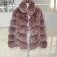 Linhaoshengyue winter women stand collar thick fur coat Real fox fur