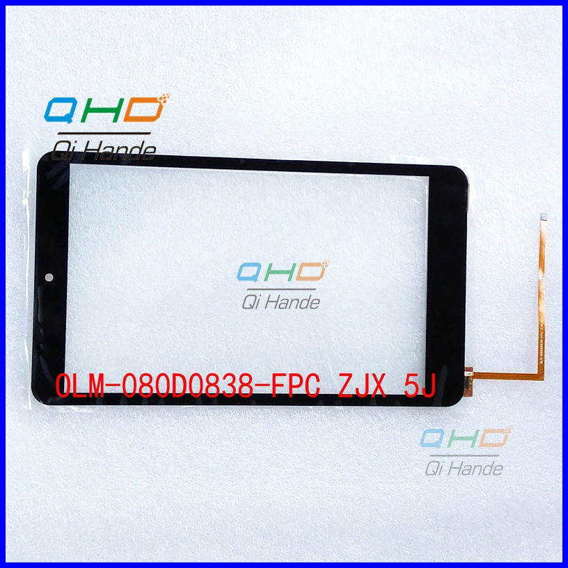 High Quality Black New For 8'' inch OLM-080D0838-FPC ZJX 5J Touch Screen Digitizer Glass Sensor Replacement Parts Free Shipping high quality black new for olm 080d0838 fpc zjx 5j 8 inch touch screen digitizer glass sensor replacement parts