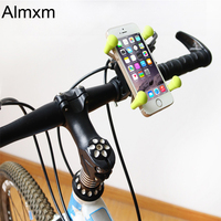 Almxm New Universal Rotating 360 Degrees X-Grip Clamp Mount Bike Bicycle Phone Holder Stand for iPhone Cell Phone
