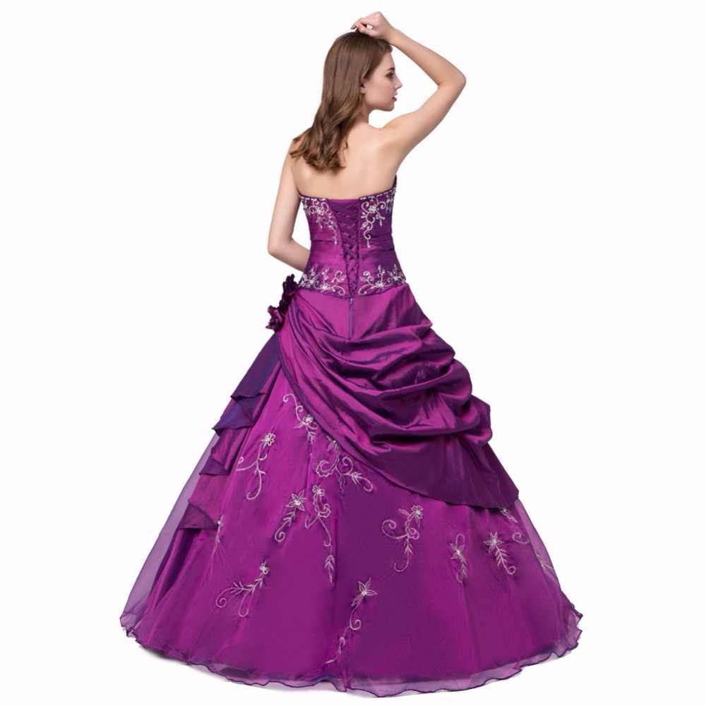 5510e4e520 NOBLE WEISS In Stock New Embroidery Beaded Pleat Flower Sweetheart Tulle  Cheap Dark Red Purple Blue Quinceanera Dresses