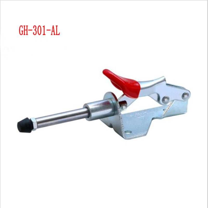 1/2/4pc GH-301AL Holding latch 90kg Push-Pull Action Type Plunger Stroke 30mm Toggle Clamp Quick Release Hand Tools nrh 5619a 230 sus 304 stainless steel latch clamp wholesale price high quality adjustable latch action push pull toggle clamp