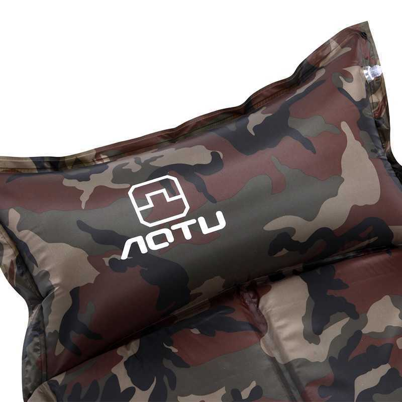 NEW 2019 Outdoor Automatic blow-up lilo Hiking camping tent camping mat dampproof mat thickening widened camouflage 185*60*2.5CM