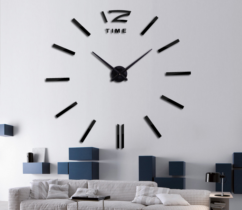 16 new hot sale wall clock watch clocks 3d diy acrylic mirror stickers Living Room Quartz Needle Europe horloge free shipping 2