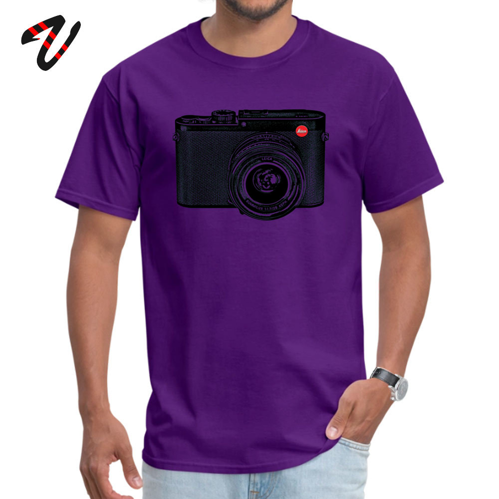 American Shorthair happy Fashion Men Top T-shirts O-Neck Short Sleeve 100% Cotton Tees Casual Clothing Shirt Top Quality American Shorthair happy 7279 purple