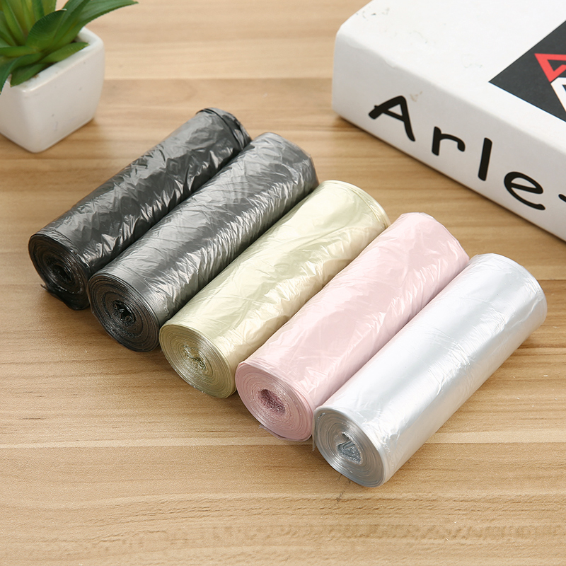 20pcs/Roll Household Disposable Black Plastic Storage Bag Kitchen Bathroom Garbage Bags Trash Bags