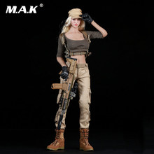 "Toys 1/6 Female Shooter Suits Set Costume Clothes F Phicen Body pale color skin 12"" PH Action Figure body Doll(China)"
