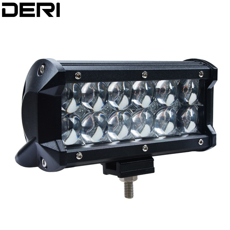7 inch 36W 5D Led Work Light Bar Spot Flood Beam For Off Road SUV 4x4 Light Lamp For Boat Car Tractor Military Equipment 24V 12V image
