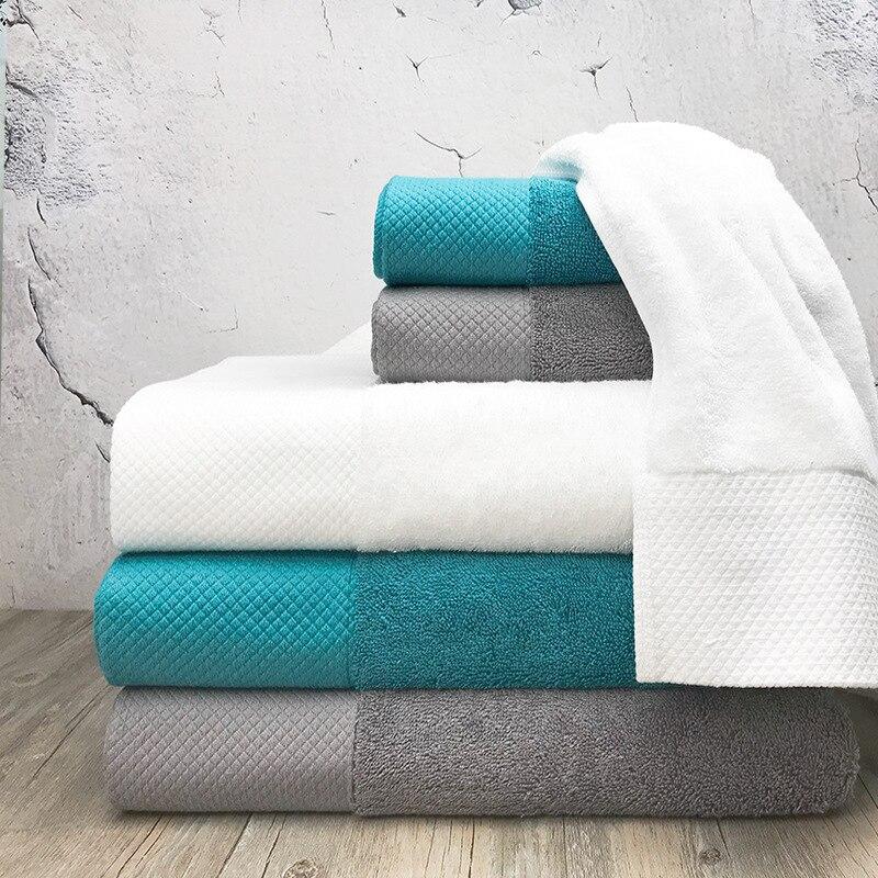 Qulity Cor Pure Toalha de Algodão Hotel Suprimentos para Exclusivo Material De Banho Spa Bath Shower Toalha Lenço Toalha de Rosto Toalha