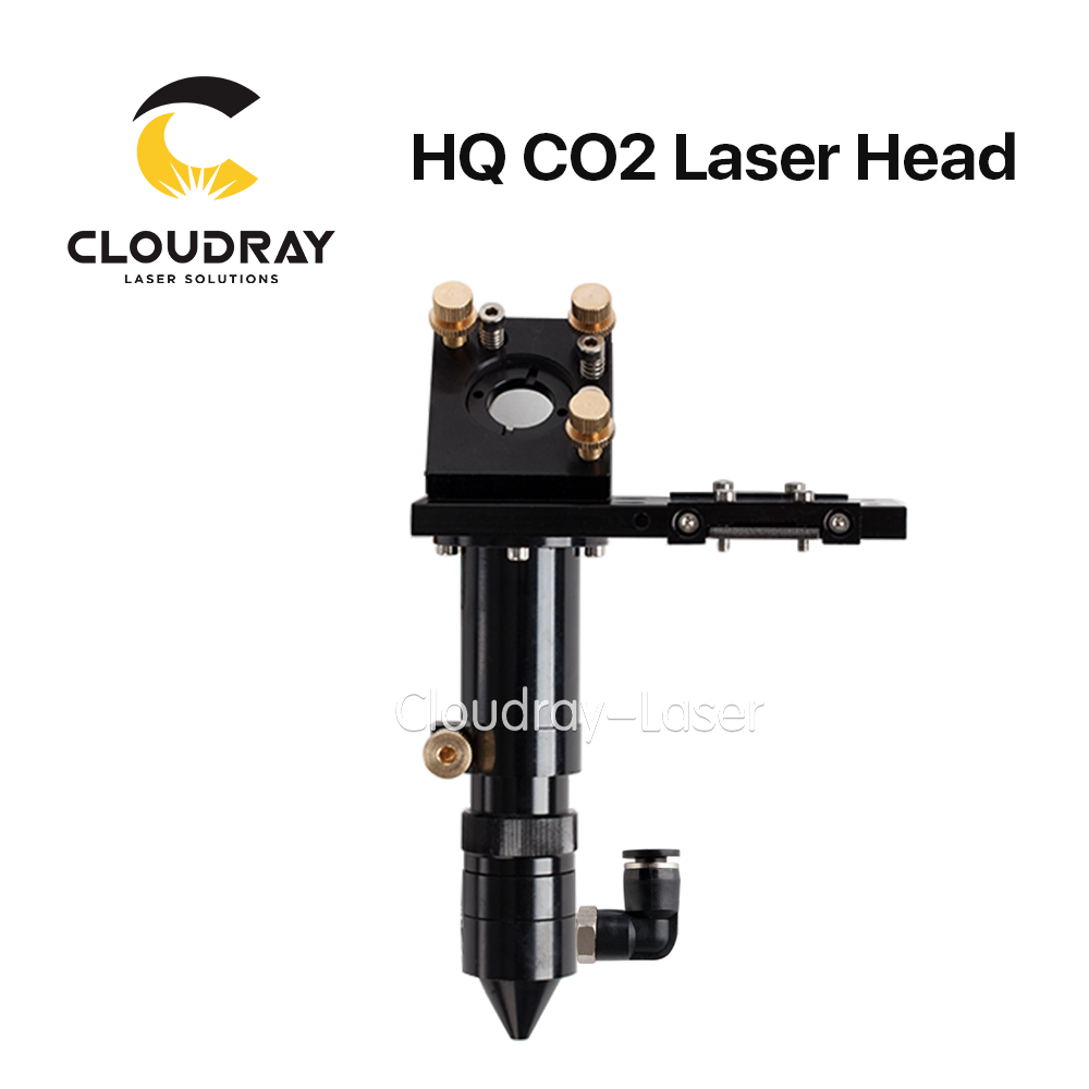Cloudray HQ Co2 Laser Laser Head for Lens D20mm FL50.8 & 63.5 & 101.6 &127mm Mirror 25mm for Laser Engraving Cutting Machine