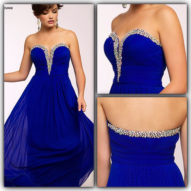 Cheap Royal Blue Prom Dresses Sweetheart Vestido De Gala A_line ...