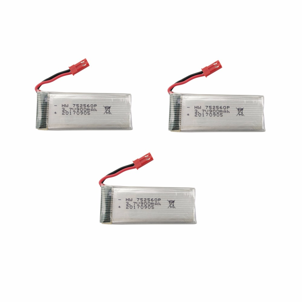 3PCS 3.7V 900mah lithium Battery 8807 8807W Folding Four-axis Aircraft Parts Remote Control Helicopter Model Aircraft Battery 3pcs battery and european regulation charger with 1 cable 3 line for mjx b3 helicopter 7 4v 1800mah 25c aircraft parts xt30