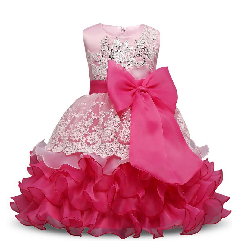2017 High quality Baby Kids Prom Gown Designs Dress 3-8 Year Birthday Dresses Sleeveless Four Layer Girl Party Wear Clothes Gir ...