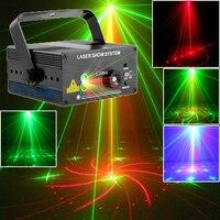 RG Láser Etapa de Iluminación Del Club de noche Azul LED Home Party 200 mw Proyector de iluminación de Luz Del Disco de DJ Profesional Con IR remoto