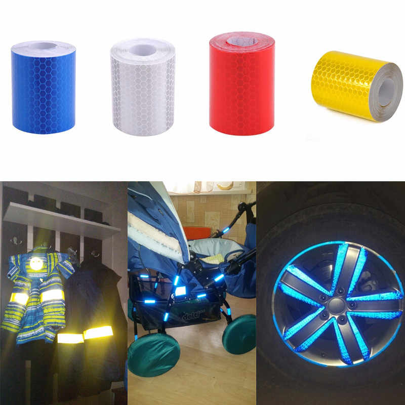 1Pc Bicycle Reflective Tape Warning Strip Motorcycle Truck DIY Reflector Film