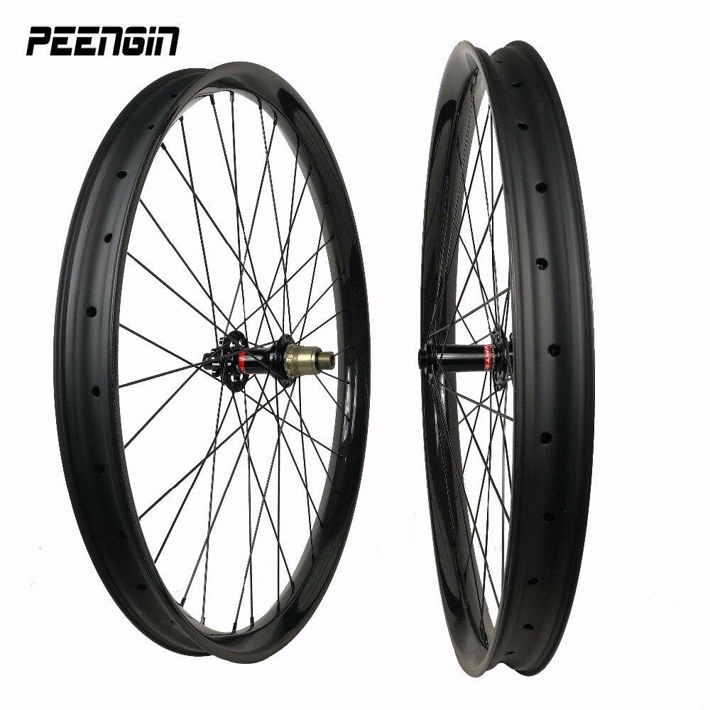 Biggest MTB 29er mountain wheelset 50x25mm cycling wheels stiff tubeless with Novatec D791SB/Powerway M32 hubs skewers/thru axle