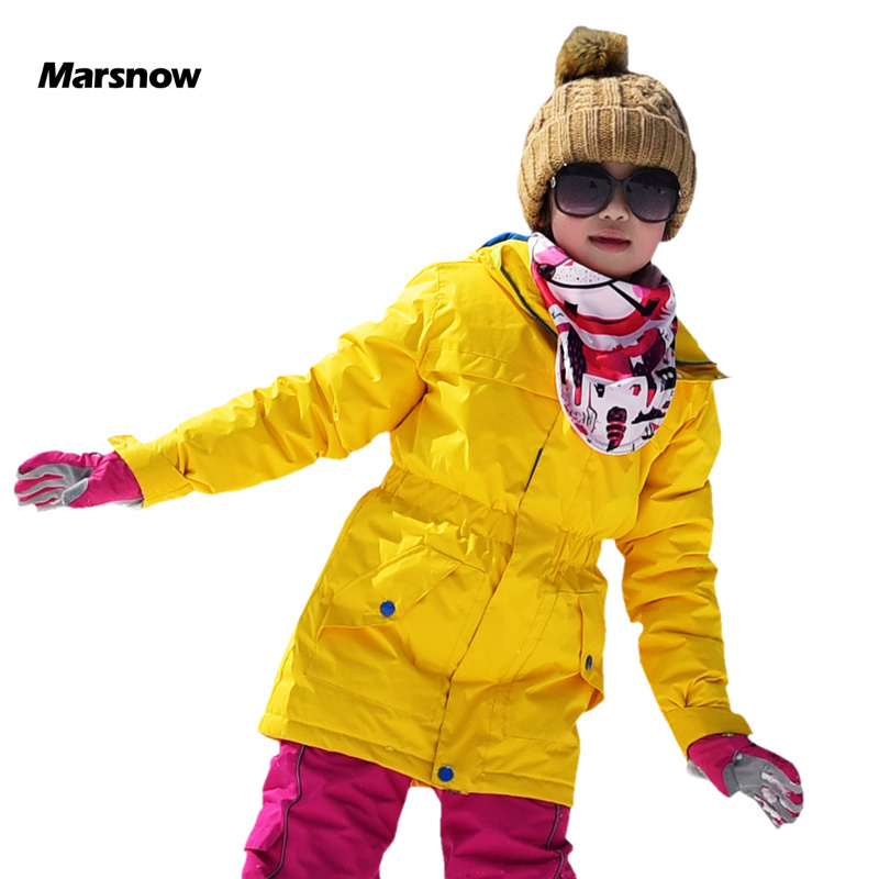 Marsnow Warm Winter Children Ski Jacket Boys Girls Skiing Snowboard Jackets Child Windproof Waterproof Outdoor Snow Coats Kids p7 l240