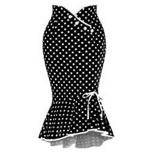 Женская юбка, новинка, высокая талия, юбка в горошек, элегантные длинные юбки, шифоновая юбка в горошек, корейская мода, jupe femme faldas H4