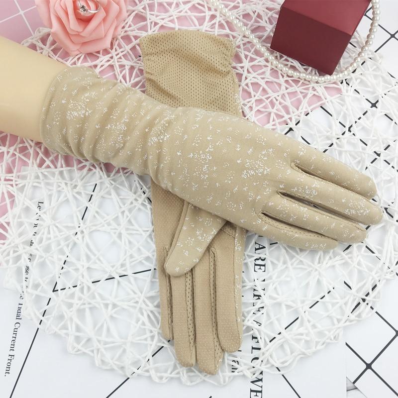 Sommer Sonnencreme Silk Sleeve Frauen Sexy Dünne Sommer Handschuhe Fahren Guantes Conducir Guantes Decuero Mujer Damen-accessoires Armstulpen