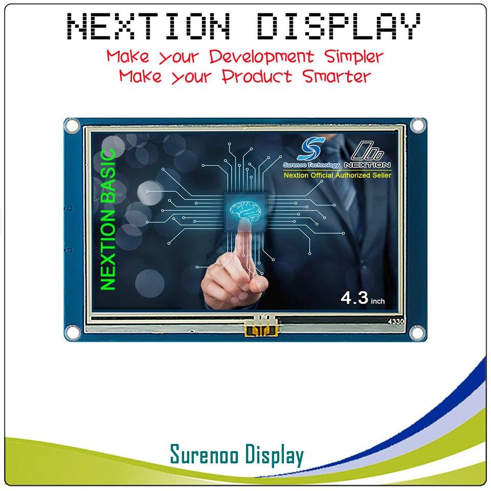 4.3 Version anglaise Nextion de base HMI Intelligent Intelligent USART UART série tactile TFT LCD Module panneau d'affichage pour Arduino